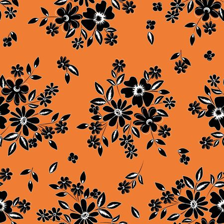 Abstract flower seamless pattern background Stock Vector - 16637744