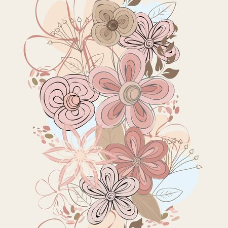 Abstract vertical flower seamless pattern background Stock Vector - 17203933