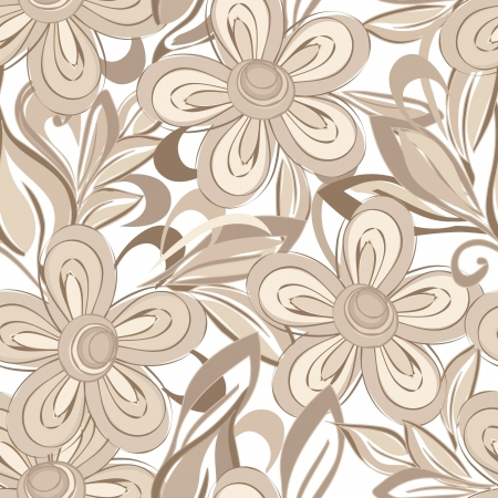 textile design: Abstract flower seamless pattern background
