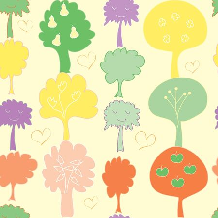 Abstract tree seamless pattern background Vector