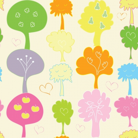Abstract tree seamless pattern background Stock Vector - 17754060