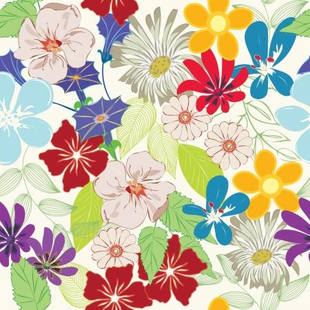 tessile: Sfondo seamless pattern astratta fiore