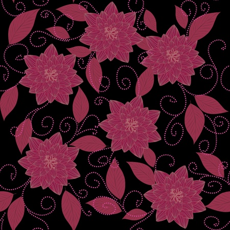 Abstract flower seamless pattern background Stock Vector - 18653008