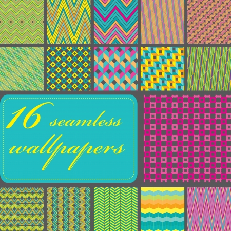madras: Seamless  vector pattern collection Illustration