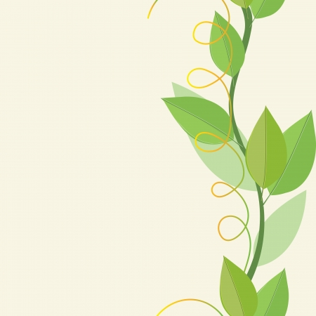Abstract  foliage background. Banner. Illustration
