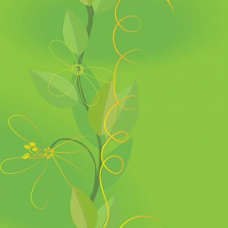 caress: Abstract  foliage background. Banner. Illustration