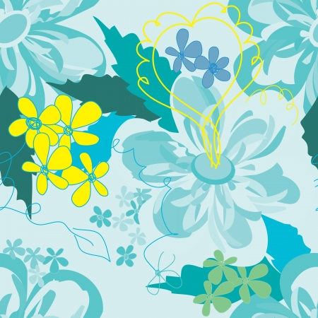 Abstract floral seamless pattern background Stock Vector - 20049495