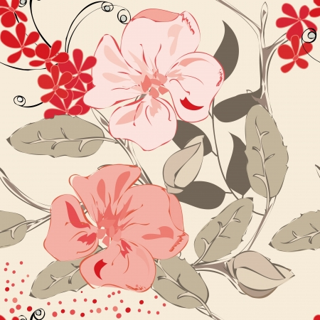 Abstract floral seamless pattern background Stock Vector - 20049472