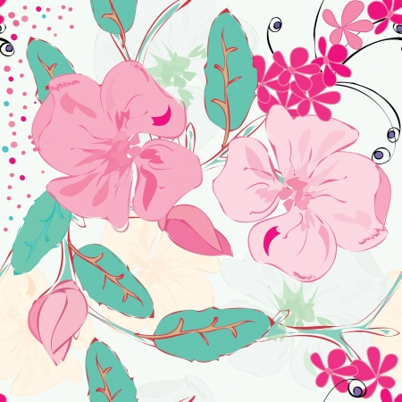 floral abstract: Abstract floral seamless pattern background