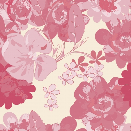 Abstract floral seamless pattern background Stock Vector - 20049504
