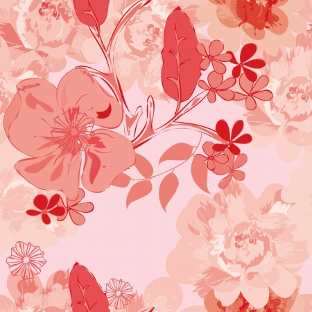 Abstract floral seamless pattern background Stock Vector - 20049507