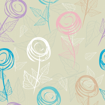 fabric: Abstract flower seamless pattern background