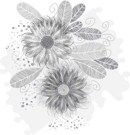 Stylish flower backgrounds Vector