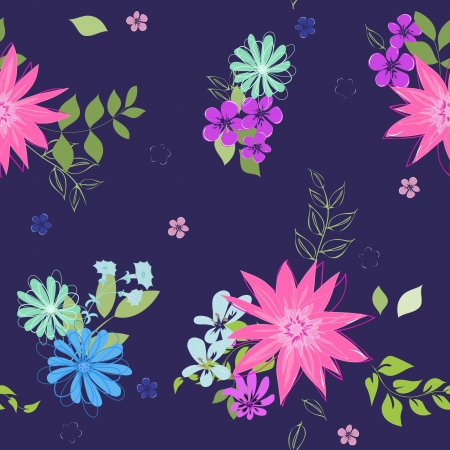 Abstract flower seamless pattern background Stock Vector - 21773304