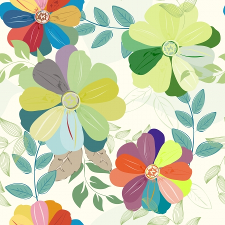 Abstract flower seamless pattern background Stock Vector - 23011578