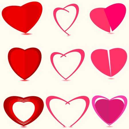 Valentine Dey backgrounds.Collection heart.