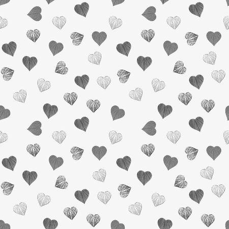 Heart seamless pattern background Vector