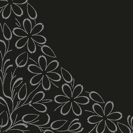 Stylish flower  backgrounds. Vector