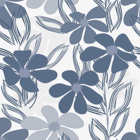 抽象的な花のシームレスなパターン背景