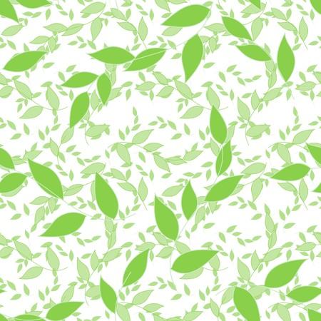 Abstract foliage seamless pattern background