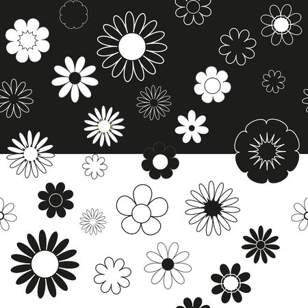 Abstract flower seamless pattern background