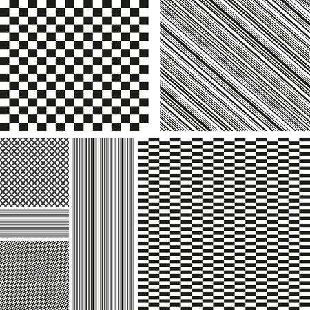 Abstract  geometric collection background. Seamless pattern. Vector