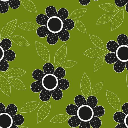 caress: Abstract flower seamless pattern background