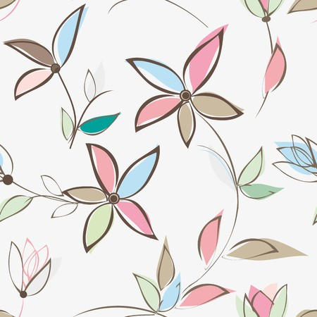abstract flowers: Abstract flower seamless pattern background