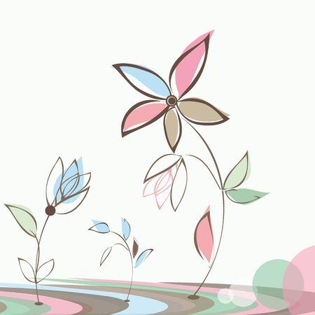 Stylish flower  backgrounds. Illustration