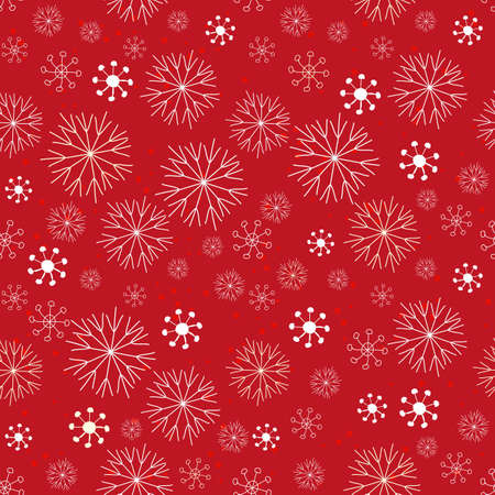 Abstract snowflake seamless pattern background