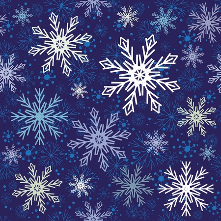 Abstract snowflake seamless pattern background Vector