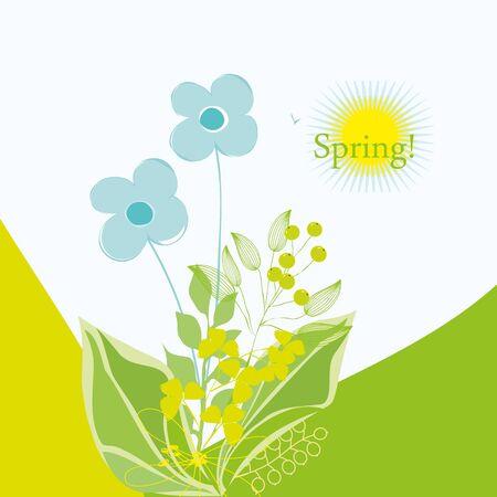 dearness: Romantic spring flower backgrounds Illustration