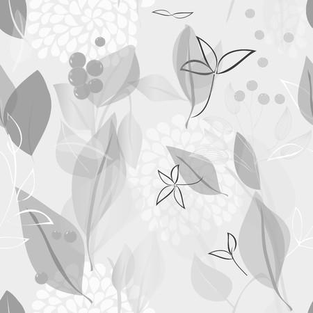grey pattern: Abstract foliage seamless pattern background