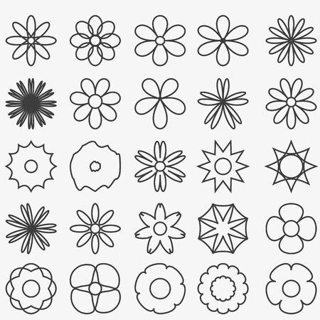 flowers background: Flores abstractas de fondo conjunto