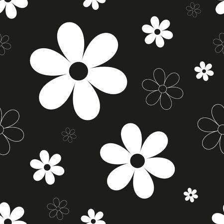 nostalgia: Abstract flower seamless pattern background