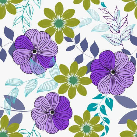 flower leaf: Abstract flower seamless pattern background
