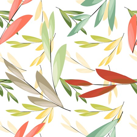 fabric painting: Abstract floral seamless pattern background