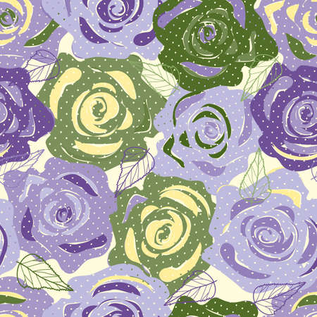 abstract rose: Abstract flower seamless pattern background