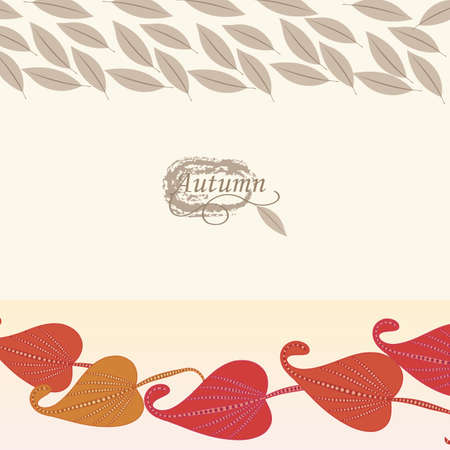 autumn background: Abstract autumn  leaf background. Banner. Illustration