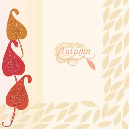leaf background: Abstract autumn  leaf background. Banner. Illustration