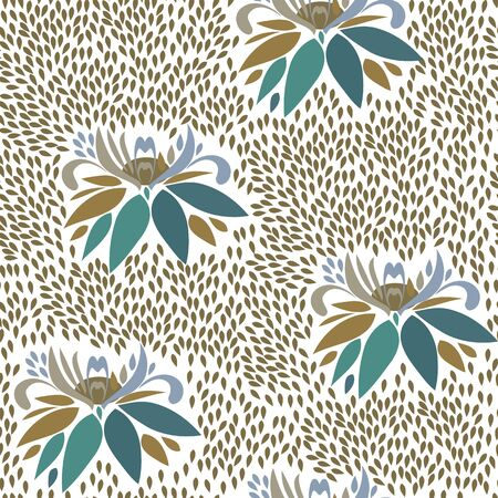 repetition: Abstract flower seamless pattern background