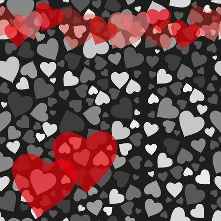 grey: Romantic valentine seamless pattern