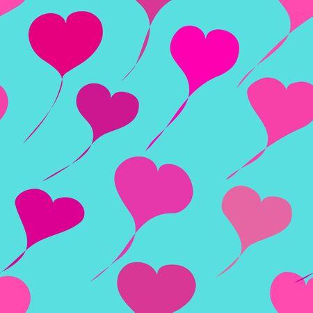corazones azules: San Valentín antecedentes románticos Vectores