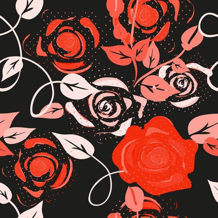heather: Abstract flower seamless pattern background