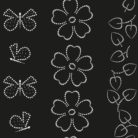 dearness: Butterfly end floral  seamless pattern