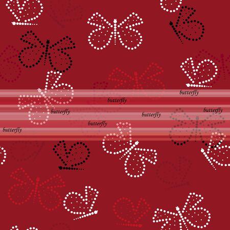 dearness: Butterfly seamless pattern