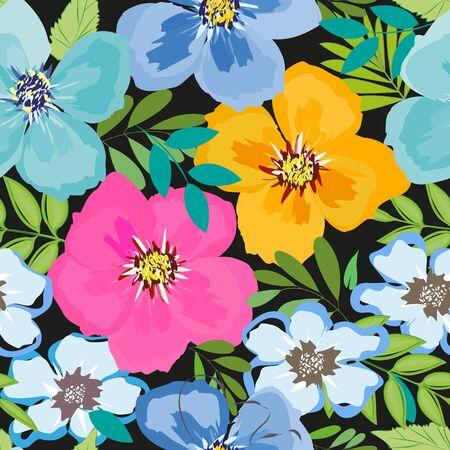 Resumen de flores fondo sin patrón