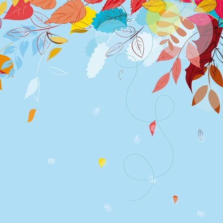 fall fashion: Abstract autumn  leaf background. Banner. Illustration