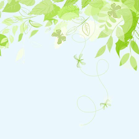 dearness: Abstract summer leaf background. Banner. Illustration