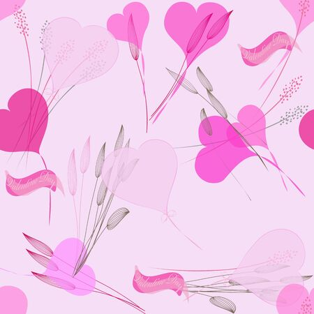 Romantic valentine seamless  backgrounds